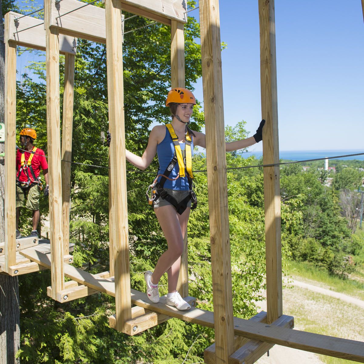 3. Challenge Yourself With a Ropes Course in the Woods