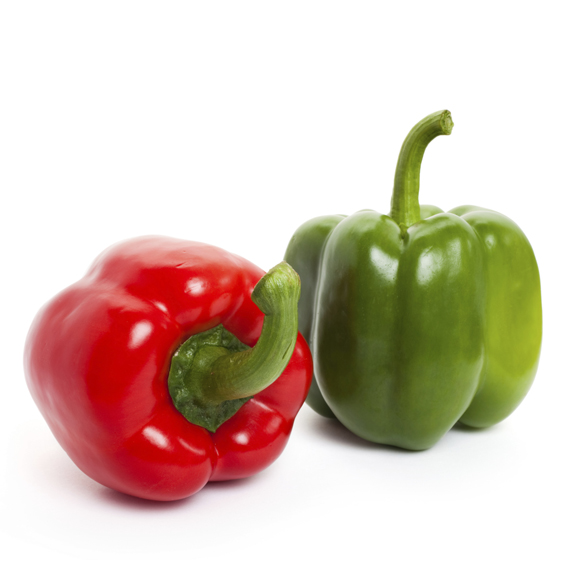 Red pepper and green pepper