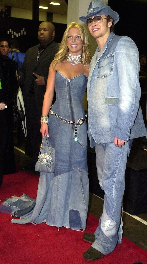 Britney Spears and Justin Timberlake at the American Music Awards