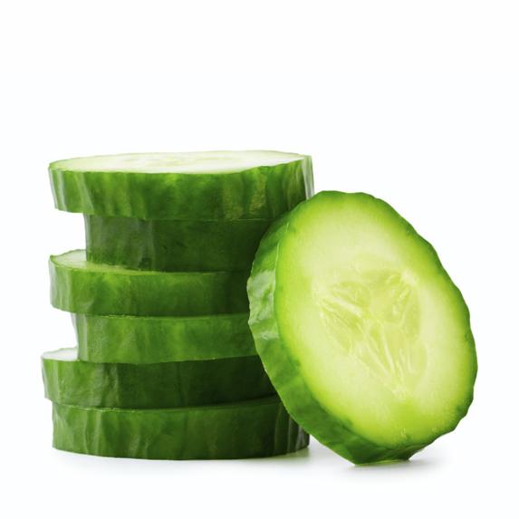 Cut up cucumbers