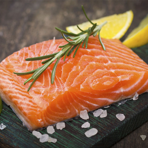 salmon filet with rosemary and lemon