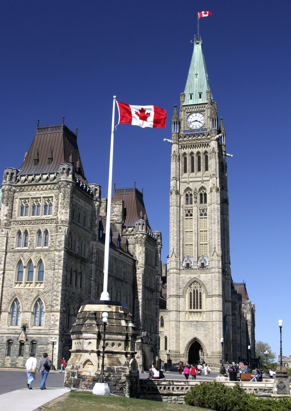 A picture of Parliament Hill in Ottawa