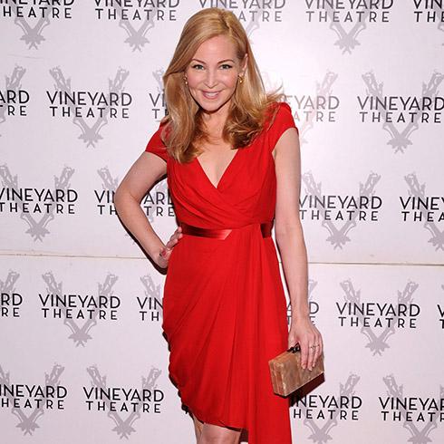 Jennifer Westfeldt in red dress