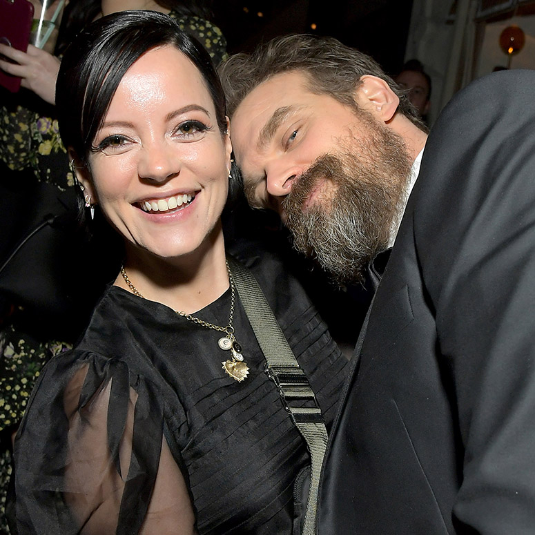 Lily Allen and David Harbour in 2020