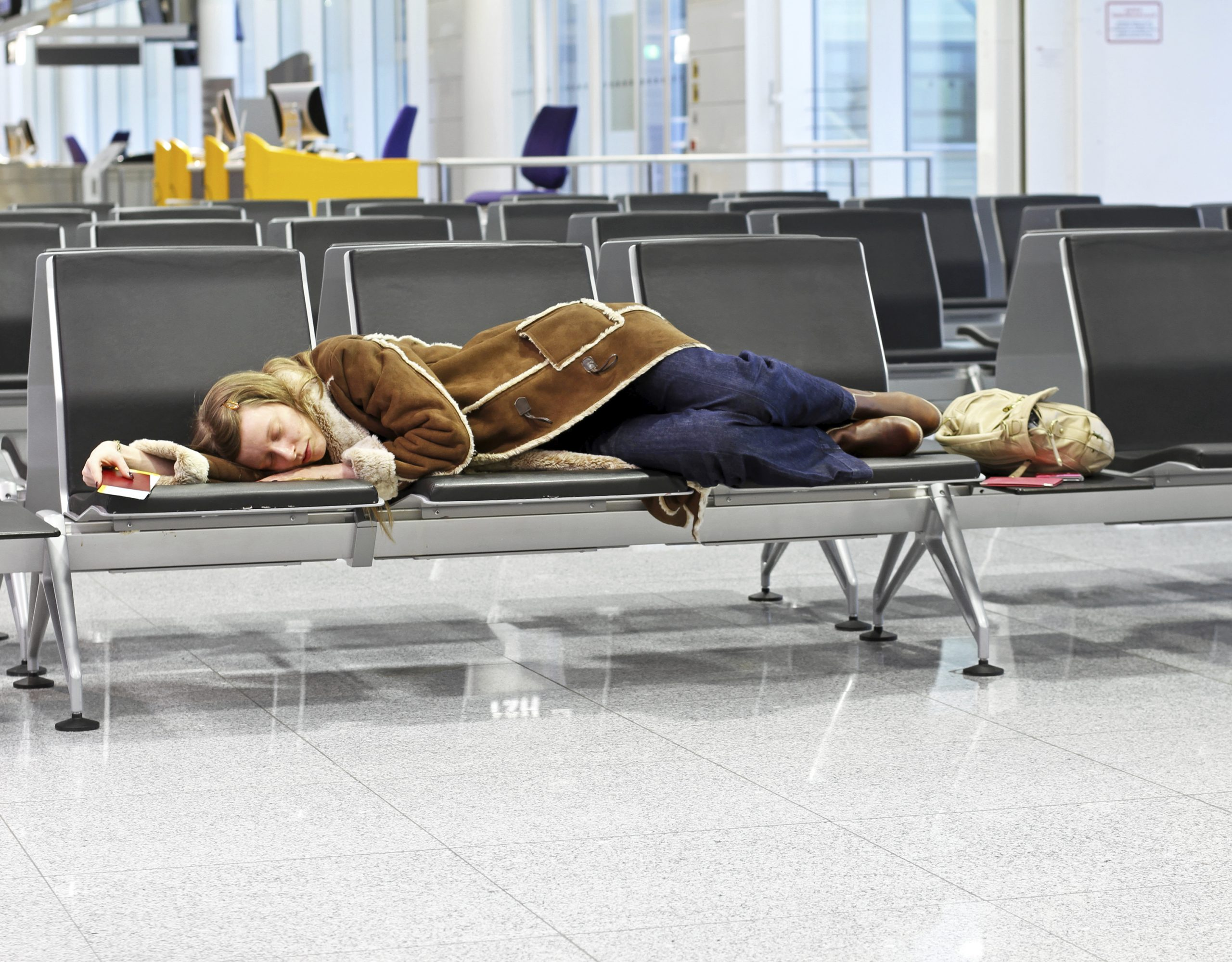 1. Sleep in airports instead of getting a hotel