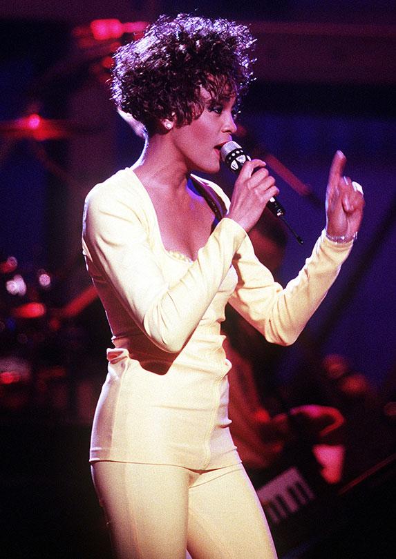 Whitney Houston on fashion