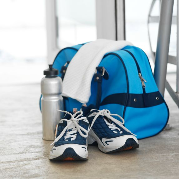 Keep a gym bag packed and ready to go
