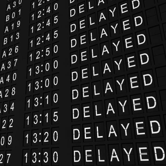 flight delays on screen