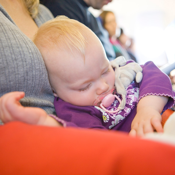 can't fly with baby on lap