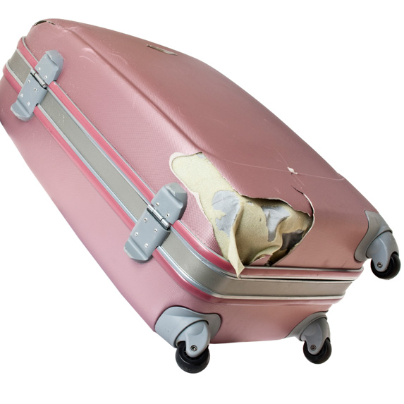 baggage zipped for flight