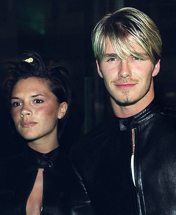 David and Victoria Beckham younger