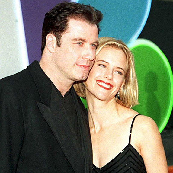 John Travolta and Kelly Preston younger photo