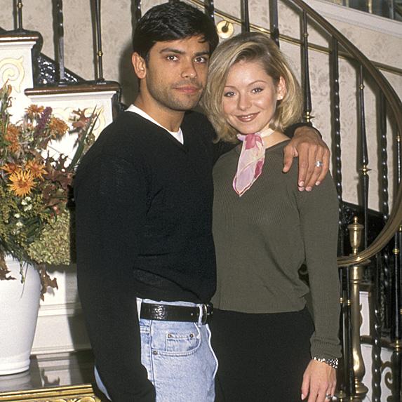 Kelly Ripa and Mark Consuelos younger photo