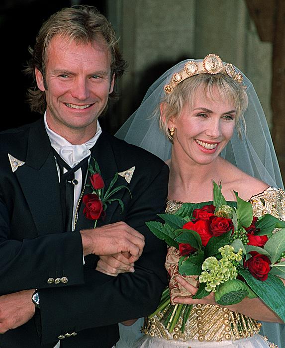 Sting and Trudie Styler wedding photo