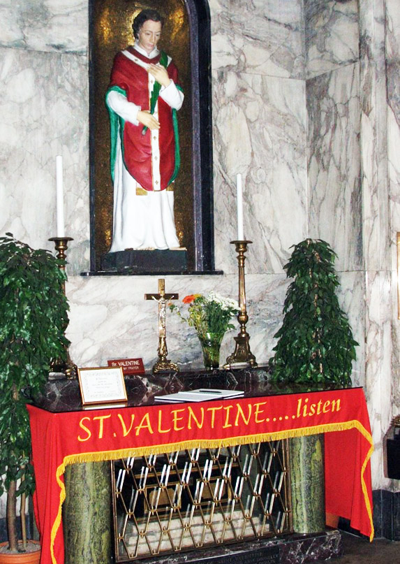 St. Valentine's resting place is in Dublin