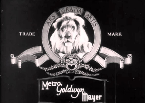 MGM lion in black and white