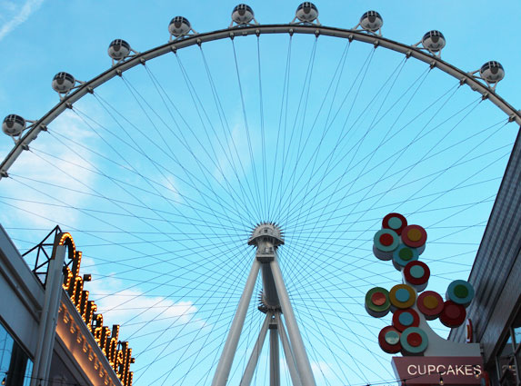 2. Take a Ride on the High Roller Ferris Wheel