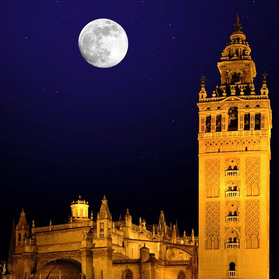Seville at night