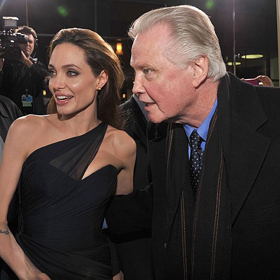 Angelina Jolie and Jon Voight