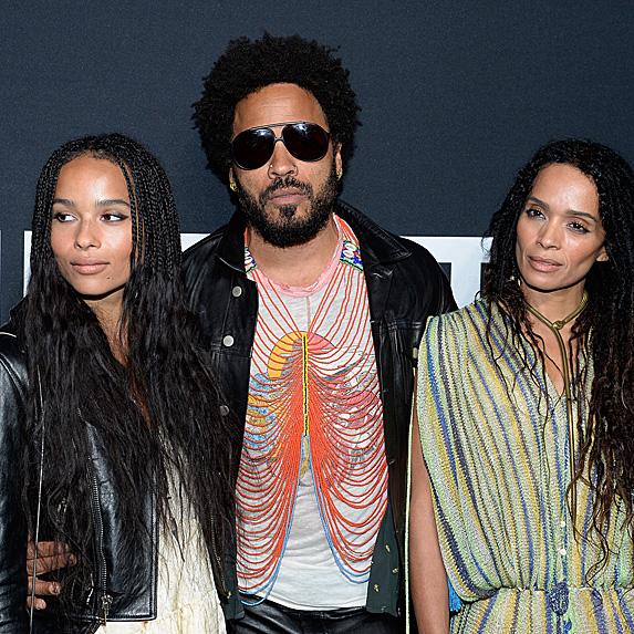 Zoe Kravitz, Lenny Kravitz and Lisa Bonet
