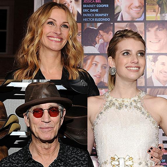 Eric Roberts; Julia Roberts and Emma Roberts