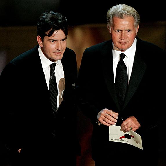 Charlie Sheen and Martin Sheen