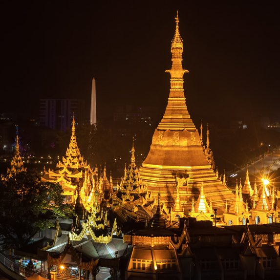 Night view in Myanmar in November