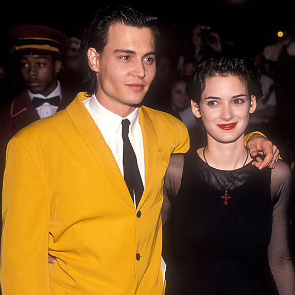 Johnny Depp and Winona Ryder couple