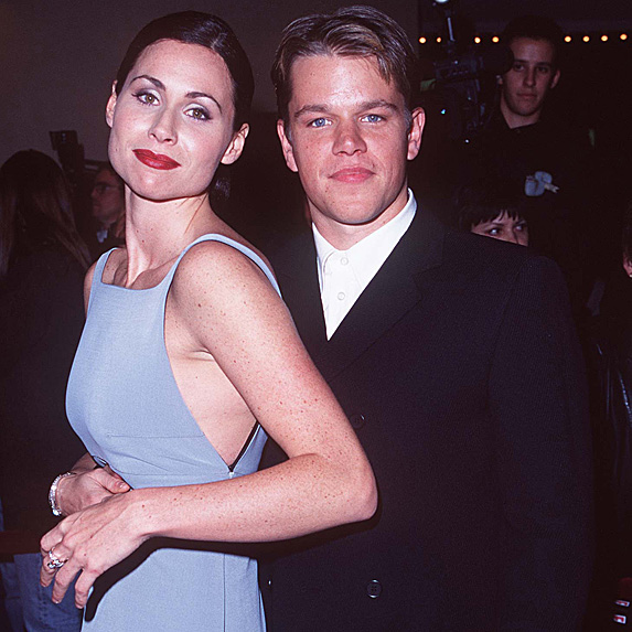 Minnie Driver and Matt Damon