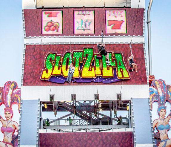 9. Ride the Slotzilla Zip Line