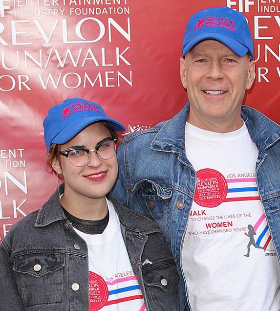 Bruce Willis and Tallulah Willis