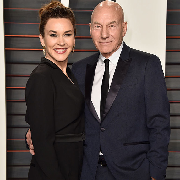 Patrick Stewart and Sunny Ozell age