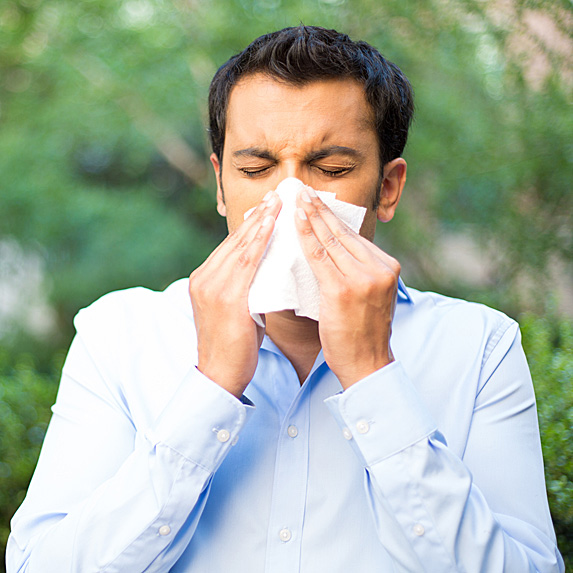 You suffer from seasonal allergies