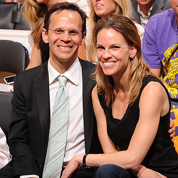 John Campisi and Hilary Swank look alike