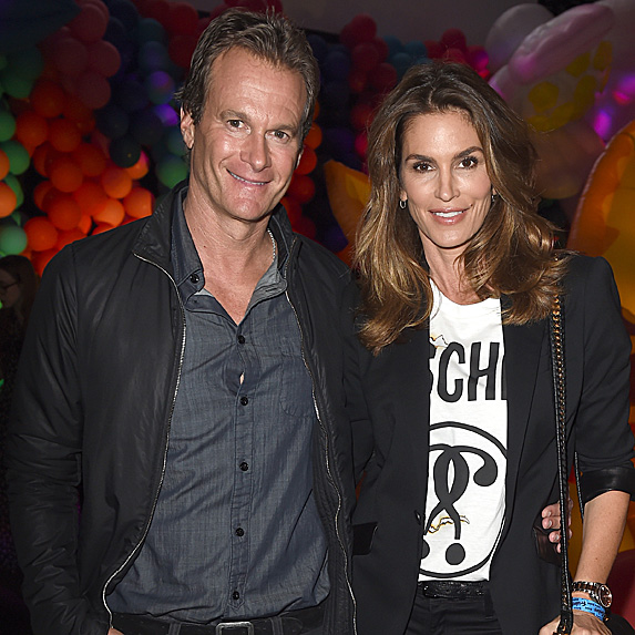 Rande Gerber and Cindy Crawford look like twins