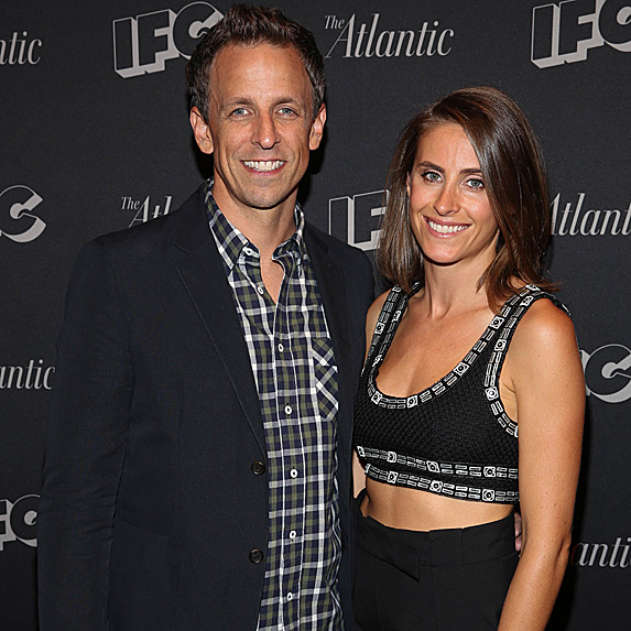 Seth Meyers and Alexi Ashe look like twins