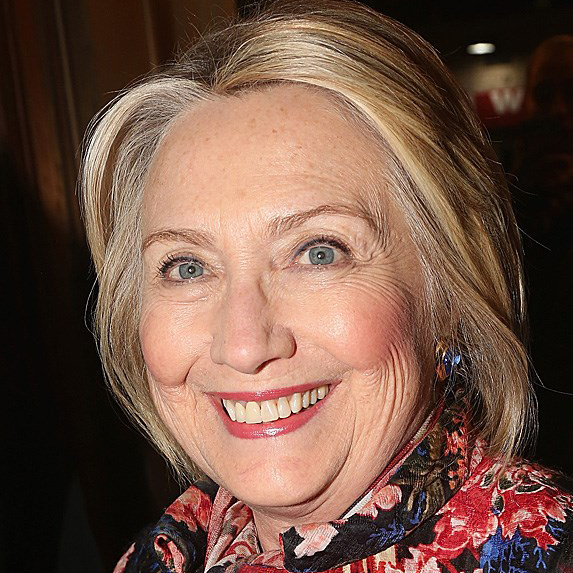 Hillary Clinton teeth in 2018