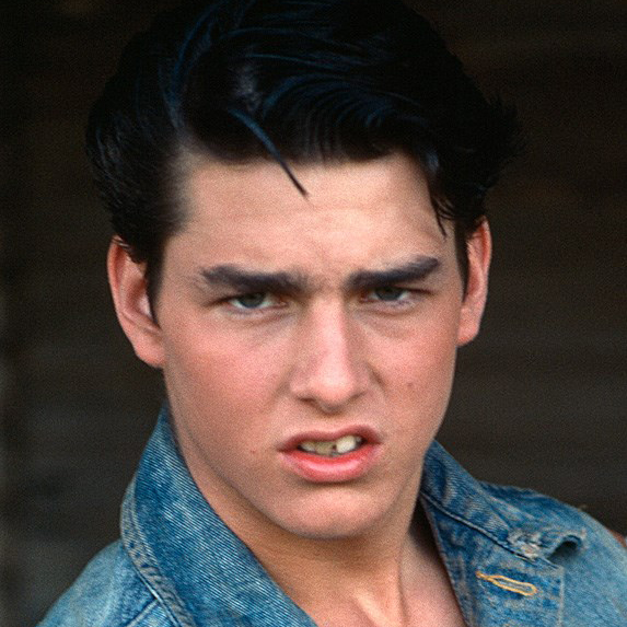 Tom Cruise on the set of 'The Outsiders' in 1982