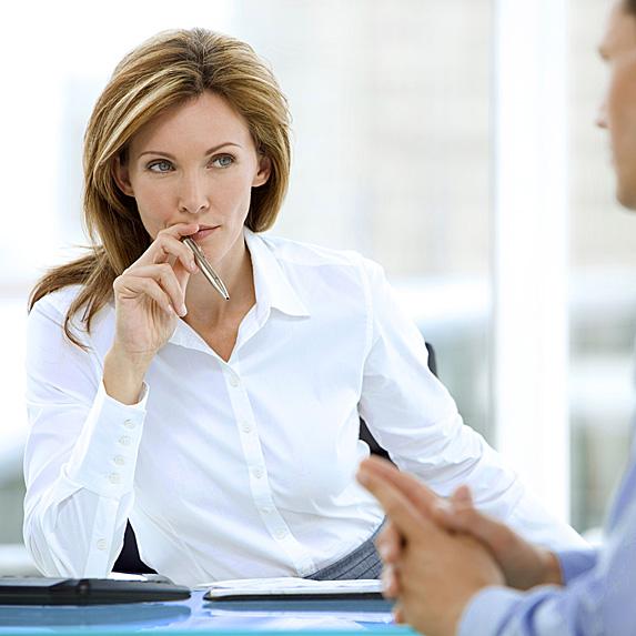 Recruiting coordinator wearing white button down