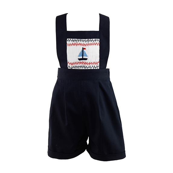 Rachel Riley Sailboat Shortalls