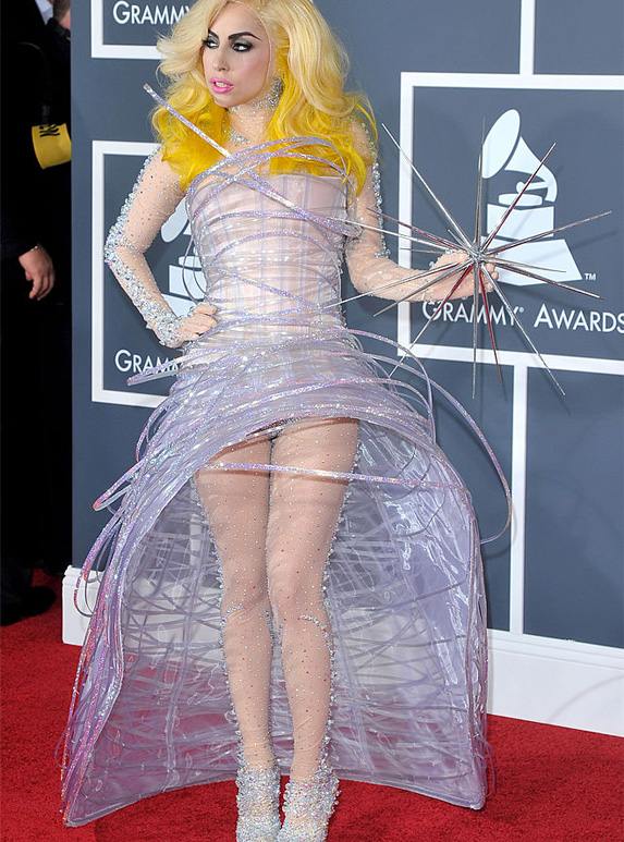 Lady Gaga at her first grammy awards