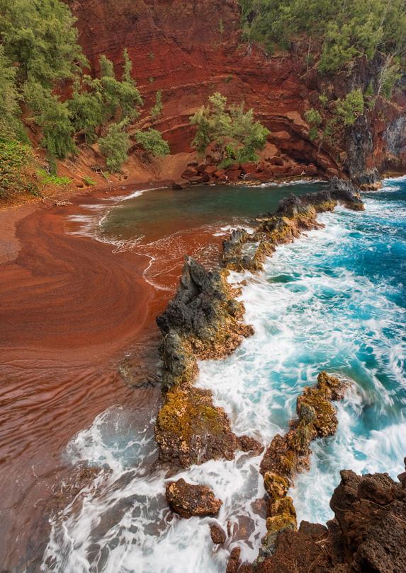 9. Kaihalulu Red Sand Beach, Maui
