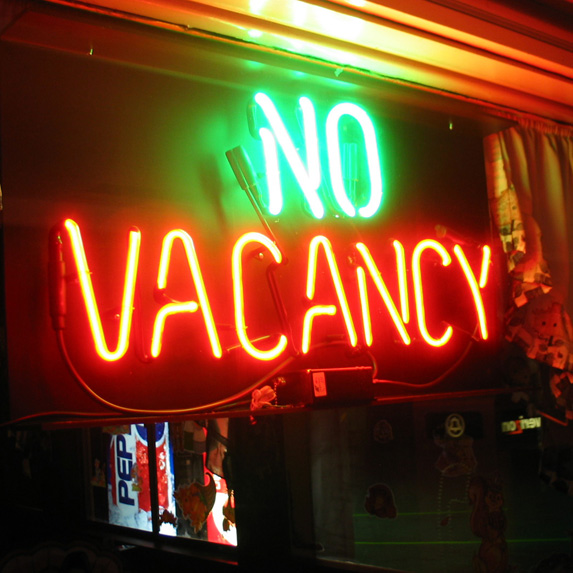 """No Vacancy"" Doesn't Mean There's No Room"