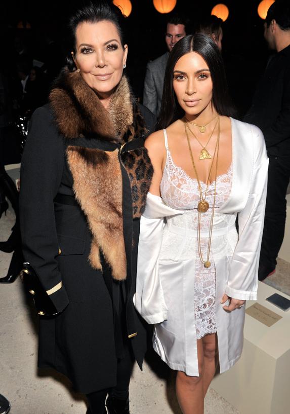 Kris and Kim Kardashian
