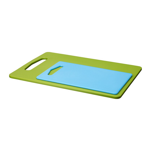 blue and green cutting boards