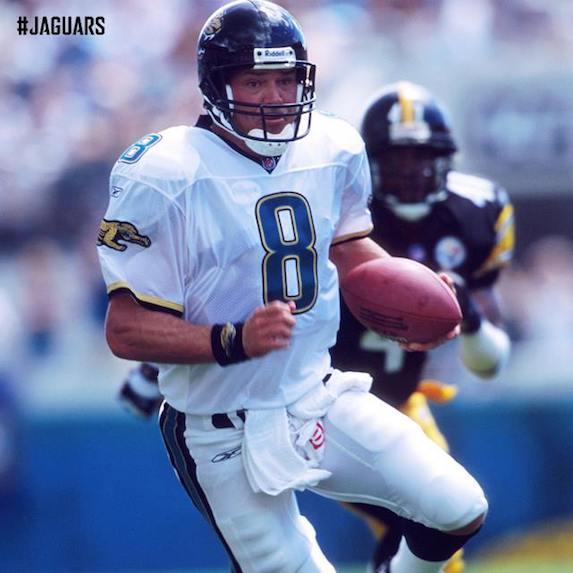 Mark Brunell playing with Jacksonville Jaguars