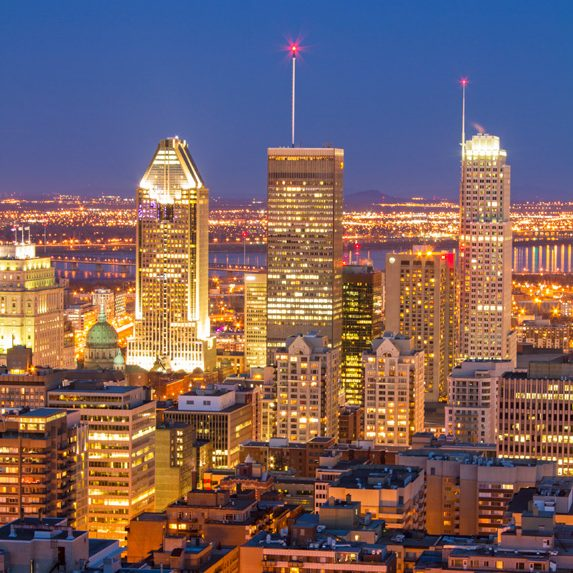 Montreal, Quebec at night