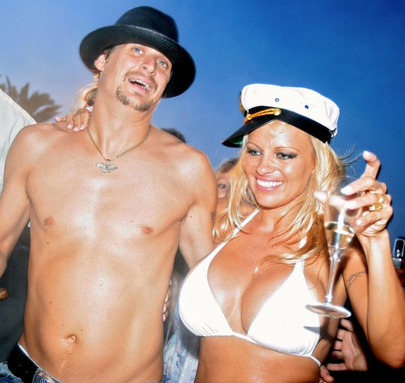 Pamela Anderson and Kid Rock celebrate their wedding on a yacht