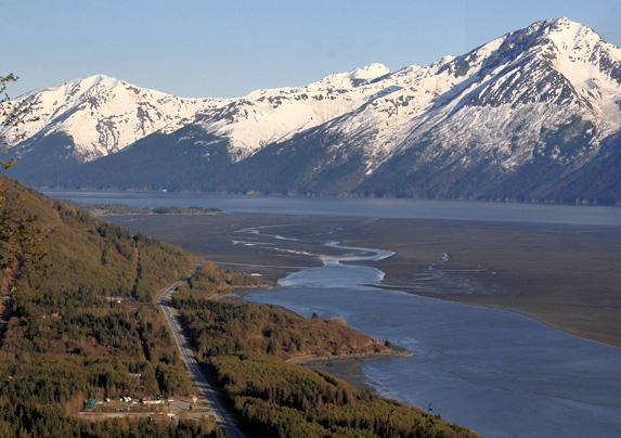 Anchorage to Portage, Alaska