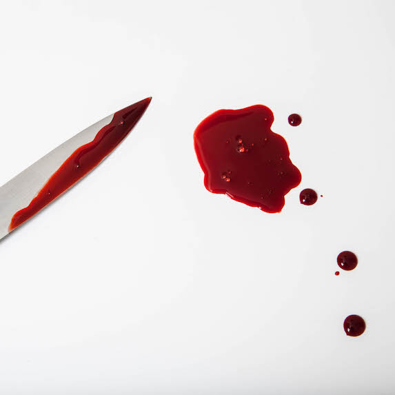 Scalpel and blood